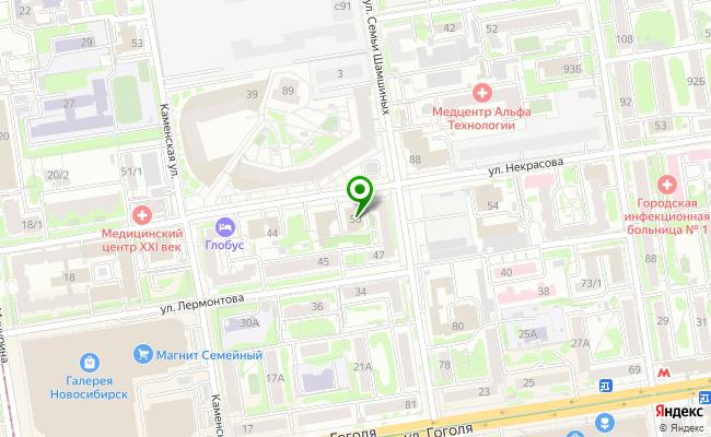 Сбербанк Новосибирск ул. Некрасова 50 карта