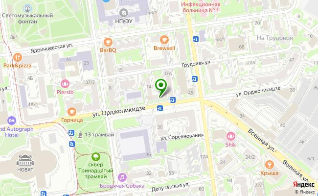 Сбербанк Новосибирск ул. Орджоникидзе 43 карта