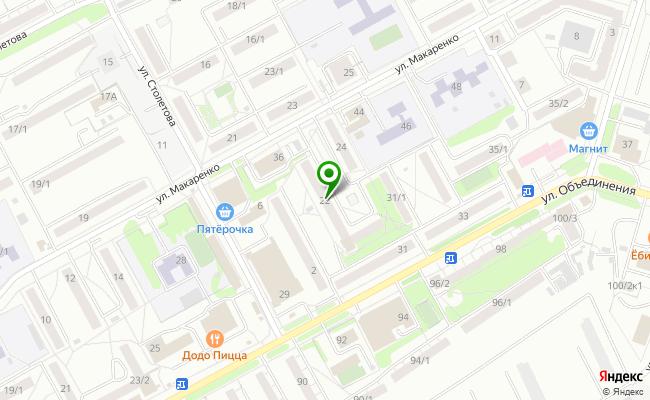 Сбербанк Новосибирск ул. Макаренко 22 карта