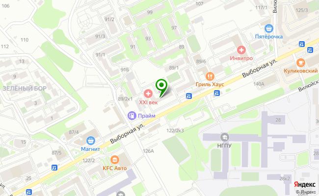 Сбербанк Новосибирск ул. Выборная 89/2 карта