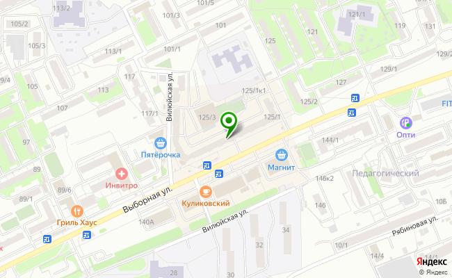 Сбербанк Новосибирск ул. Выборная 125/1 карта