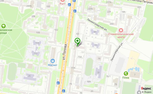 Сбербанк Барнаул ул. Попова 73-А карта