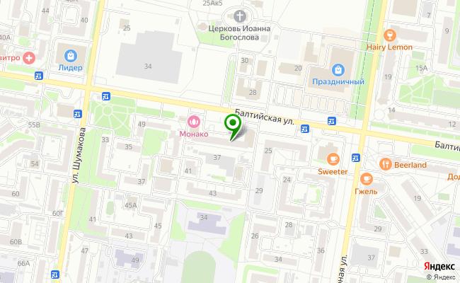 Сбербанк Барнаул ул. Балтийская 39,Н-1 карта