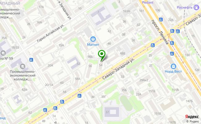 Сбербанк Барнаул ул. Северо-Западная 54 карта