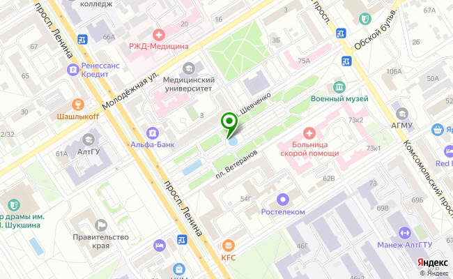Сбербанк Барнаул ул. Научный Городок 9 карта