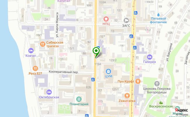 Сбербанк Томск проспект Ленина 10, вл.1053-1056 карта
