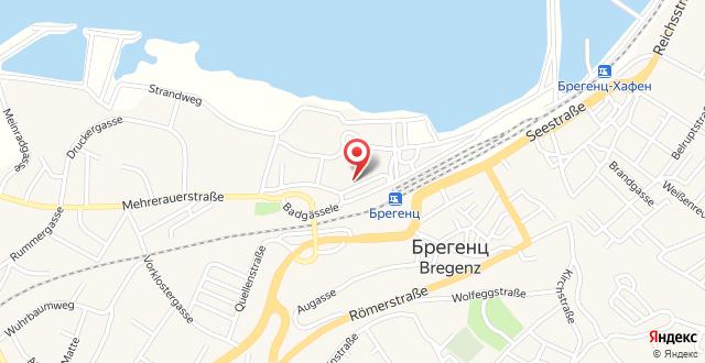 Mercure Bregenz City на карте