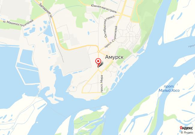 Карта Амурска