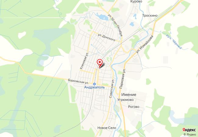 Карта Андреаполя