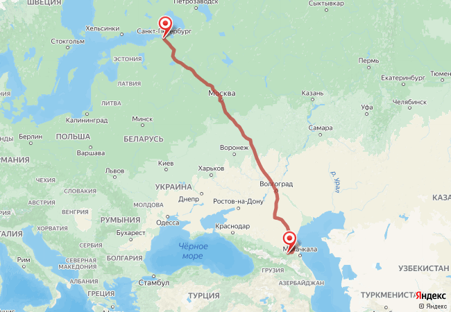 Маршрут Санкт-Петербург - Автуры