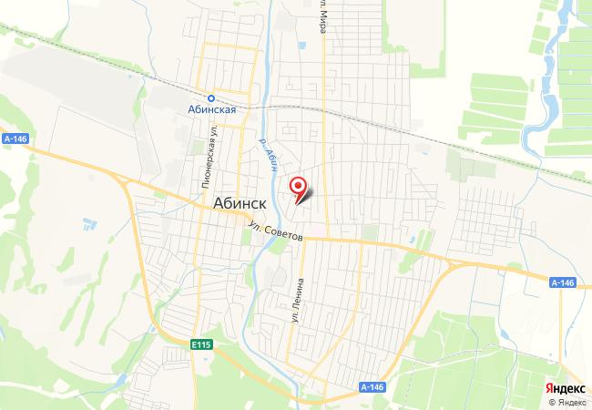 Карта Абинска