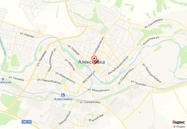 Карта Алексеевки