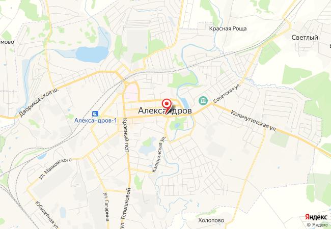 Карта Александрова
