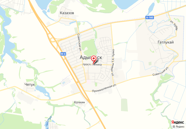 Карта Адыгейска