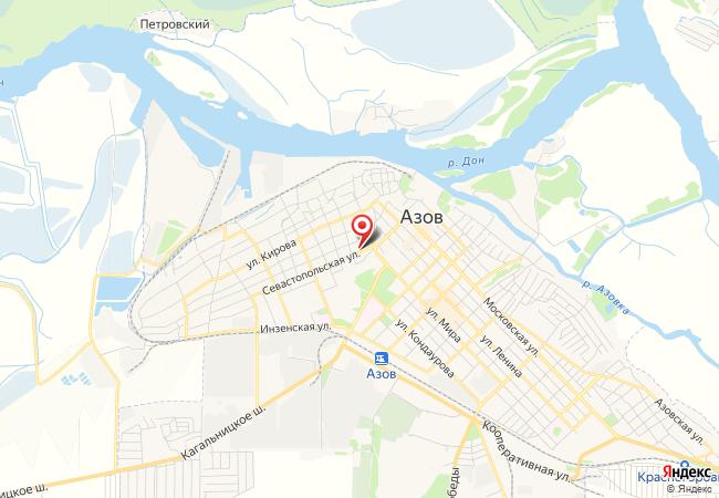 Карта Азова