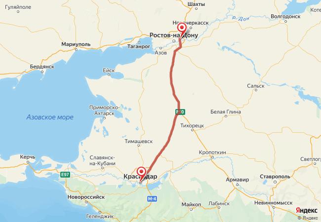 Маршрут Краснодар - Аксай