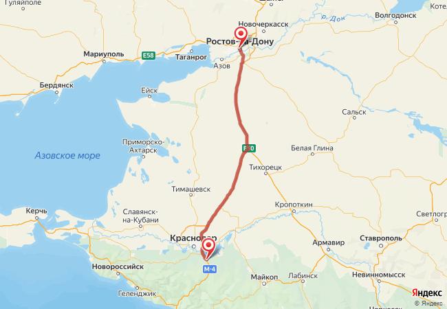 Маршрут Ростов-на-Дону - Адыгейск