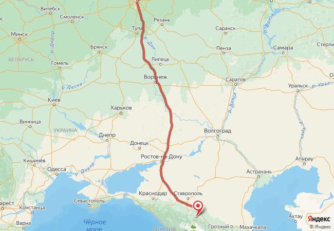 Маршрут Москва - Кисловодск