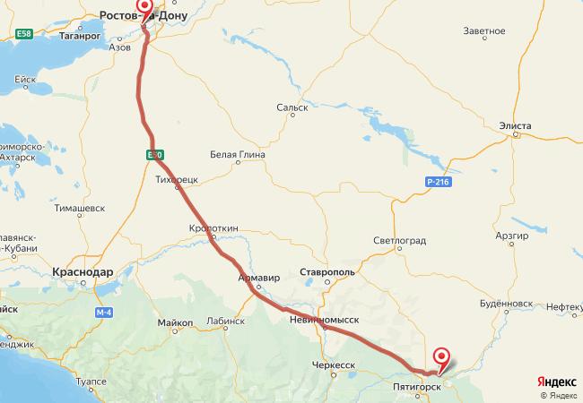 Маршрут Ростов-на-Дону - Александрийская