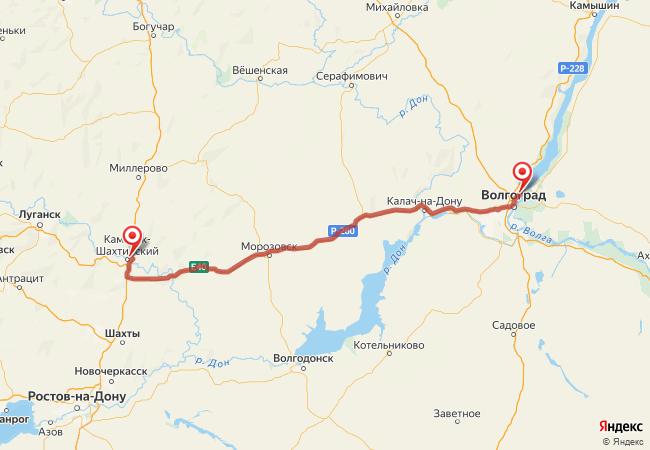 Маршрут Волгоград - Старая станица