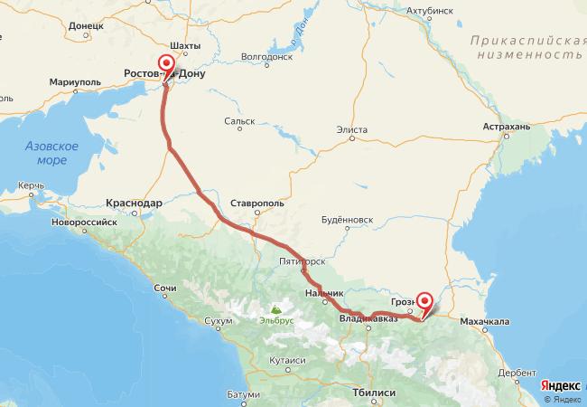 Маршрут Ростов-на-Дону - Автуры