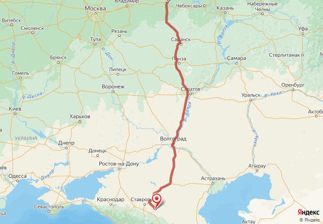 Маршрут Нижний Новгород - Александровское