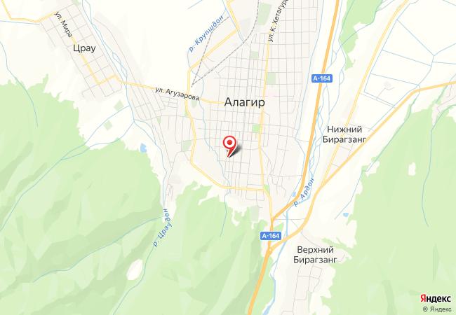 Карта Алагира