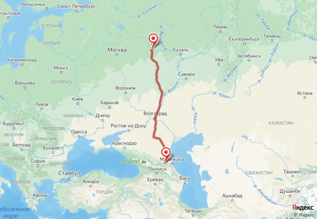 Маршрут Нижний Новгород - Аллерой