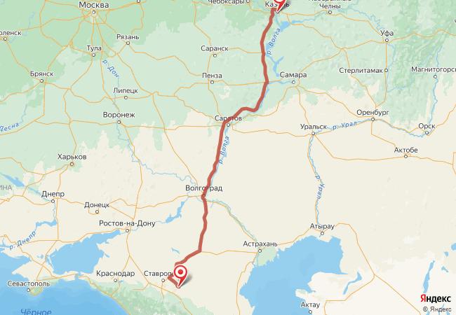 Маршрут Казань - Александровское