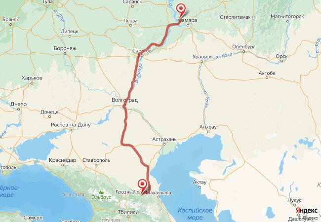 Маршрут Тольятти - Автуры