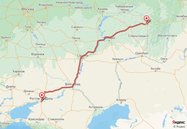 Маршрут Ростов-на-Дону - Авдон