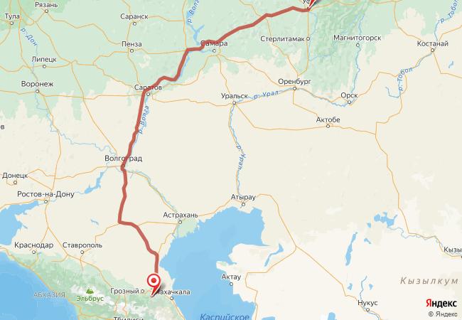 Маршрут Уфа - Аллерой
