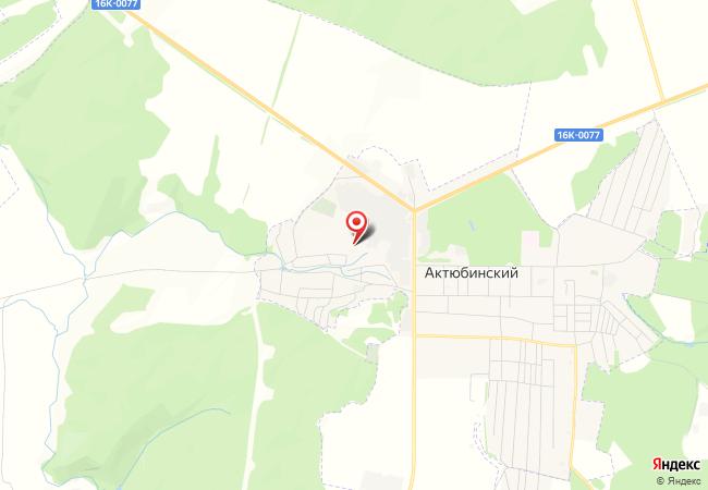 Карта Актюбинского