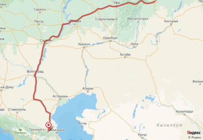 Маршрут Челябинск - Аллерой