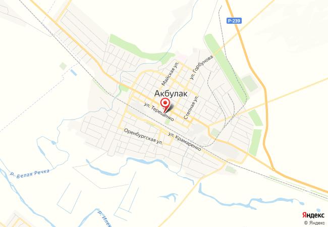 Карта Акбулака