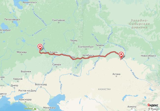 Маршрут Нижний Новгород - Азово