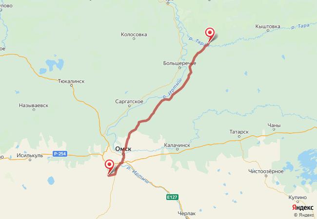 Маршрут Муромцево - Азово