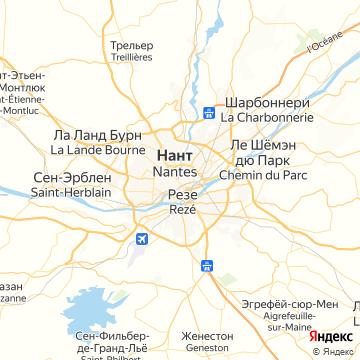Карта Нанта