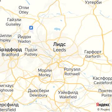 Карта Лидса