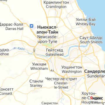 Карта Ньюкасла