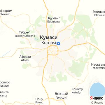 Карта Кумаси