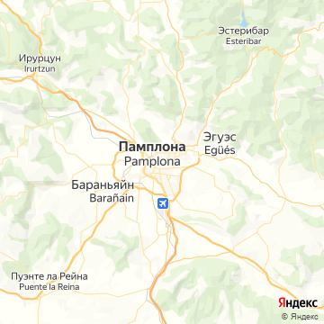 Карта Памплоны