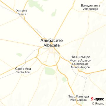 Карта Альбасете