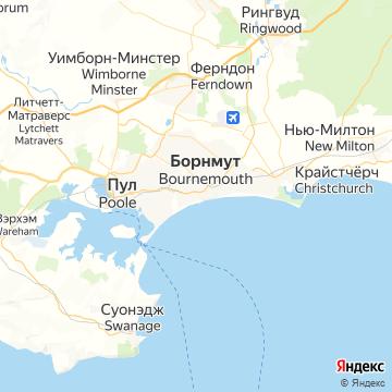 Карта Борнмута