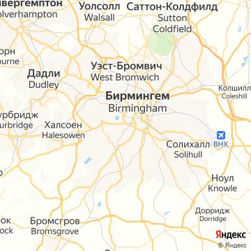 Карта Бирмингема