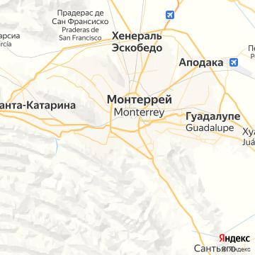 Карта Монтеррея