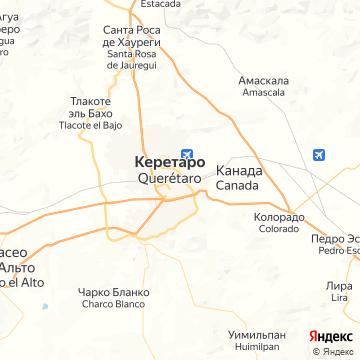 Карта Керетаро