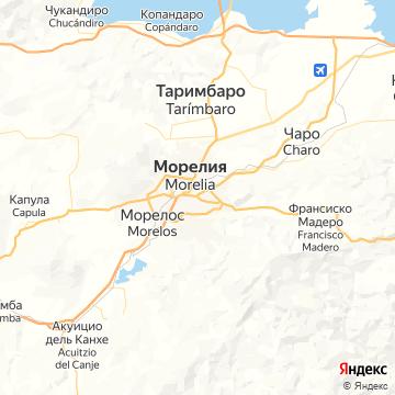 Карта Морелии