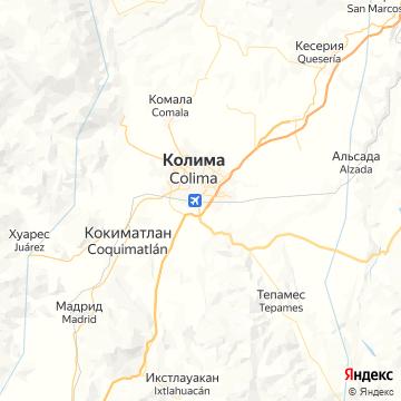 Карта Колимы