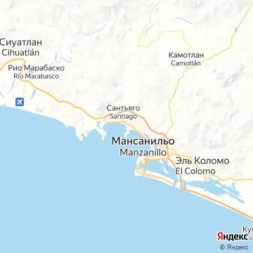 Карта Манзанилло
